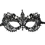 Daorier Dame Masque de Dentelle Vénitienne Masque Sexy Masque pour Halloween Carnival Mascarade 1Pcs (Mystérieux)