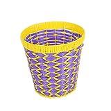 JASNO Weben Ausgehöhlten Müll Kann Haushalt Einfache Quadratische Kunststoff Verdeckte Mülltonne Papierkorb Für Den Hausgebrauch (2PCS)