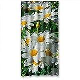 Blanc Daisy Cosmos Fresh Fleur étanche Rideau de douche Différentes tailles, Polyester, blanc, 36'(w) x 72'(h)