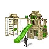 FATMOOSE Kletterturm CrazyCat Comfort XXL Spielturm Baumhaus mit Turmanbau Schaukel