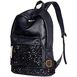 Aeoss® Women Embroidered Sequins Shimmer Party PU Leather Backpack School College Travel Bags