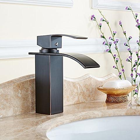XHDWNBM Nero bacino di bronzo miscelatori per il freddo e caldo jacuzzi acqua vanità rubinetto miscelatore