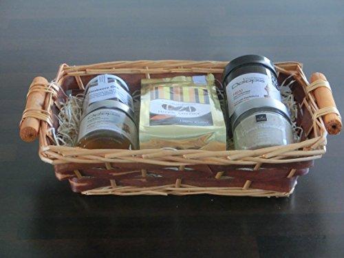 Geschenkkorb / Präsentkorb Frühstück Deluxe: Kaffee, Honig, hausgemachte Marmelade, Creme | gut als Geschenkkorb für Kunden und Geschäftspartner, Geschenkkorb edel, premium,