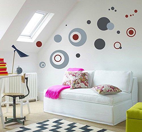 ufengke® Círculos de La Moda Pegatinas de Pared, Sala de Estar Dormitorio Removible Etiquetas de La Pared / Murales