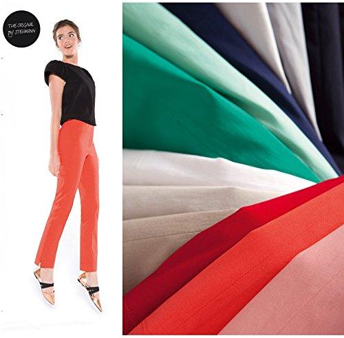 Stehmann - Stretchhose INA 740 - VIELE FARBEN - Mit EXTRA-Fashion Armreif -Gerade geschnittene Pull-On Hose mit Schlitz, Hosengröße:34, Farbe:marine - dunkelblau (Gerade Hose Schlitz)