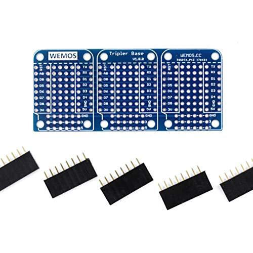 SNOWINSPRING Dreifache Basis für WeMos D1 Mini ESP8266 Dua Schild Board Hohe Qualit?t (Baby-elektronisches Schild)