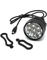 Nestling® CREE XM-L T6 U2 5/7 LED Rechargeable Bike Vélos Light Head Light House étanche Lampe torche avec Install Holder pour Mountain & Enfants & Vélos Tous + feu arrière +8.4V, 8000mah, 4 x18650 battery arrière