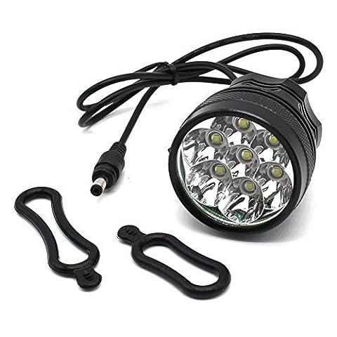 Nestling® 10000LM CREE XM-L U2 T6 7 LED Montagne vélo Bike Light Lamp Cycle Vélo Head Light Head Torch Lampe Super Bright + 8.4V, 8000MAH, 4 x 18650 Rechargeable batterie