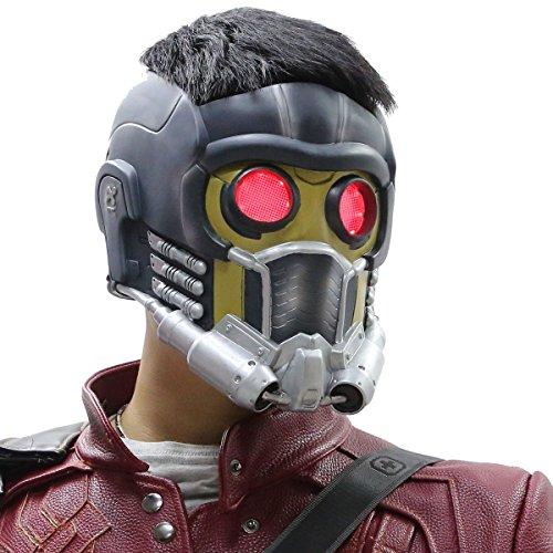 Nexthops Star Lord Maske Helm Cosplay Helmet Guardians Maske Premium-Design One Size für Erwachsene aus Harz Kostüm Zubehör