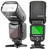K&F Concept® KF-570 II Universal Blitz Blitzgerät Speedlite Blitzlicht für Canon Nikon Fuji...