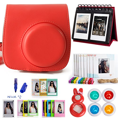 woodmin-10-in-1-accessoires-bundle-pour-fujifilm-instax-mini-8-camera-rougemini-8-cas-albums-cadres-