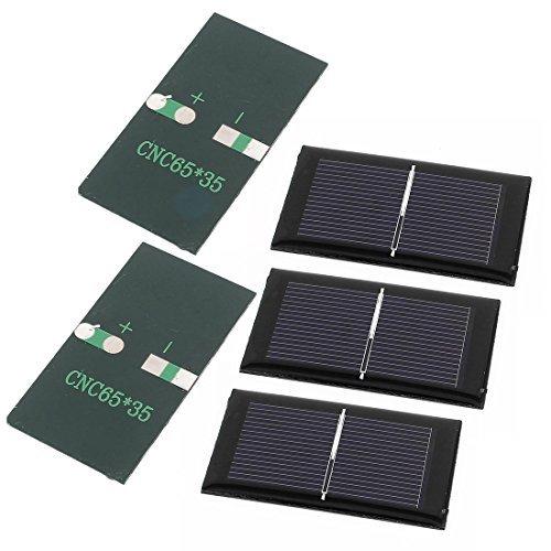 DealMux 5 Stück 0,5 V 0,15 W DIY Polycrystallinesilicon Sonnenkollektor-Energien-Zellen-Batterie-Ladegerät 65mm x 35mm