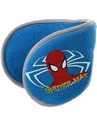 Orejeras, flexibles, forro polar, para niño, diseño de Spiderman, talla única, color azul/gris