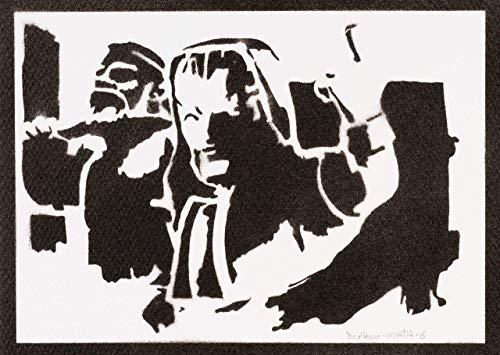 Póster Mago De Hielo Clash Royale Grafiti Hecho A Mano - Handmade Street Art - Artwork