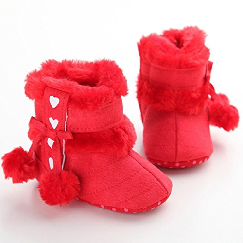 Schuhe Kinder Winter- Omiky® Mädchen Wanderstiefel Schuhe Stiefel Wanderschuhe ,schuhe 0-6 monate,schuhe 6-12 monate, schuhe 12-18 monate Rot-1