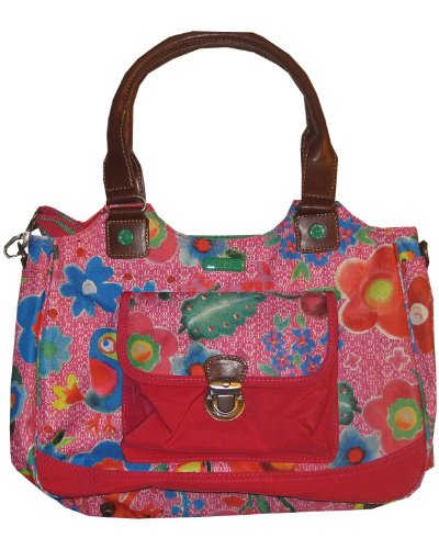 Oilily Funky Flowers M Carry All Pink - Funky Flower Handtasche