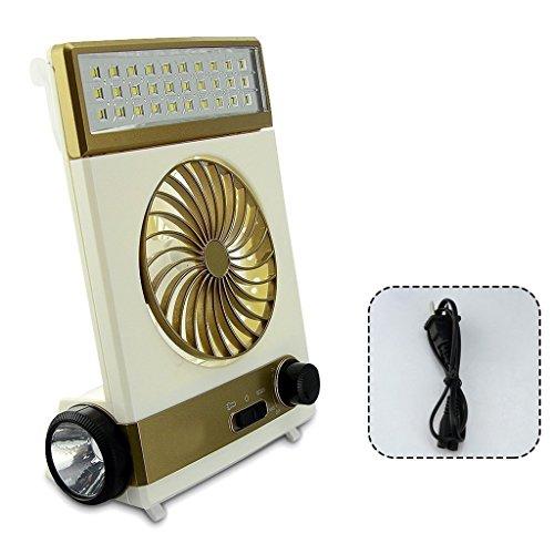 Tragbare Fan 3 In 1 Multifunktions Mini Fan LED Tischlampe Taschenlampe Solar Licht Für Camping Solar Fan Für Outdoor (Fan-licht-schatten)