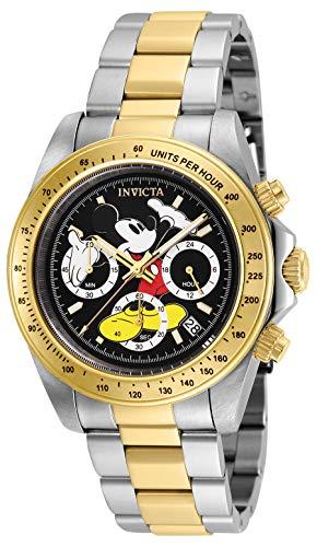 Invicta 25194 Disney Limited Edition Mickey Mouse Reloj Unisex acero inoxidable Cuarzo Esfera negro