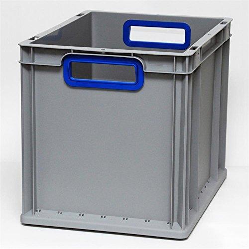 Preisvergleich Produktbild Euroboxen Eurokasten Eurobehälter offener Griff 400 x 300 x 320 mm - Griffmulde blau - Eurokisten Eurobox Lagerbox Lagerboxen Lagerkiste Lagerkisten