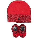 Nike Fly Elephant Baby Mütze Und Socken Set, rot, 0-6 Monate