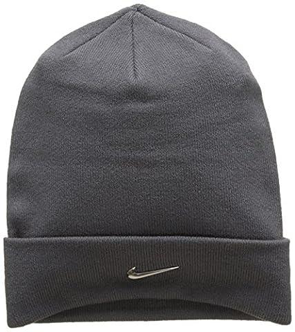 Nike Swoosh Bonnet Mixte Adulte, Dark Grey/Metallic Silver, FR : Taille Unique (Taille Fabricant : Taille Unique)