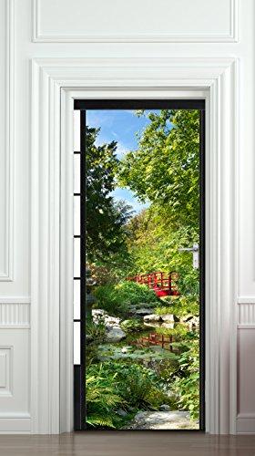 PLAGE 141020 Aufkleber für Türen-Japanischer Garten, 204 x 83 cm