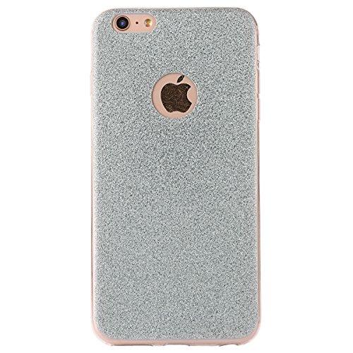 """iPhone 6sPlus Hülle, iPhone 6Plus Handytasche, CLTPY Ultradünn Weich TPU Schutzfall Shinning Glitzer Kristall Schale Etui für 5.5"""" Apple iPhone 6Plus/6sPlus (Nicht iPhone 6/6s) + 1 x Stift - Silber Blau"""