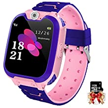 Montre Intelligente pour Enfants 7 Jeux - Musique MP3 Montre Enfants Fille Garçon, Appels Téléphoniques Montre à écran Tactile pour Enfants avec 1GB SD Card, Caméra, Alarme, Smart Watches 3-12 Ys