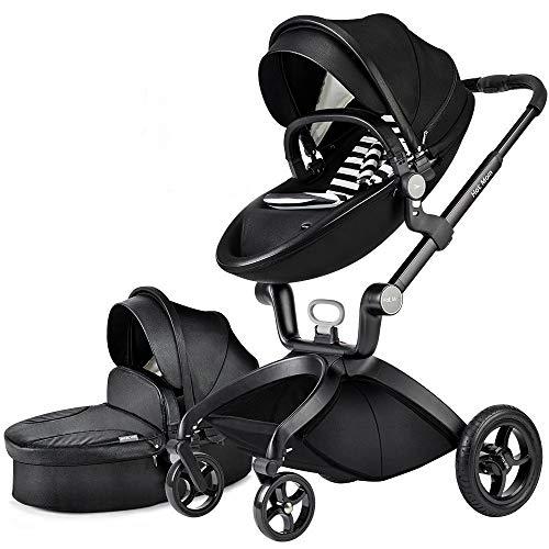 Hot Mom Limited Edition Kombikinderwagen mit Buggyaufsatz und Babywanne 2017, Schwarz