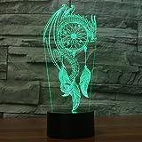 Jinson well 3D drachen form Lampe optische Illusion Nachtlicht, 7 Farbwechsel Touch Switch Tisch Schreibtisch Dekoration Lampen perfekte Weihnachtsgeschenk mit Acryl Flat ABS Base USB Kabel kreatives Spielzeug