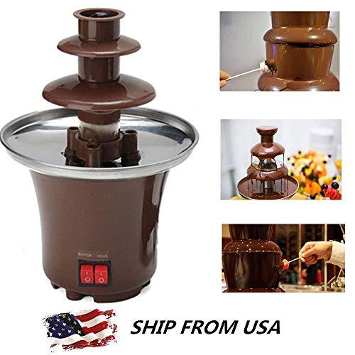 YPSMLYY Schokoladenschmelzende Heißtopfmaschine 3-Schicht-Mini-Schokoladenbrunnenparty Käse Karamell Süßigkeiten Butter