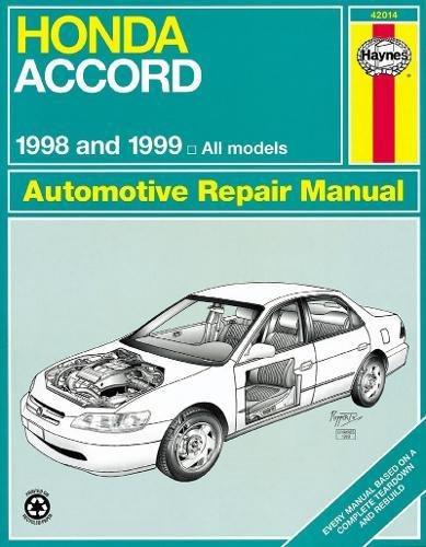 Honda Accord All Models 1998-2002 Haynes USA Workshop Manual