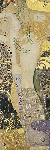 Artland Alte Meister Premium Wandbild Gustav Klimt Bilder Poster 90 x 30 cm Wasserschlangen- Kunstdruck Wandposter Jugendstil R0MI