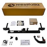Westfalia Abnehmbare Anhängerkupplung für Tourneo/Transit Connect (BJ ab 02/2014) im Set mit 13-poligem fahrzeugspezifischen Elektrosatz