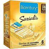 Bicentury Barrita Cereales Y Cacao Chocolate Blanco Sarialís - 100 gr