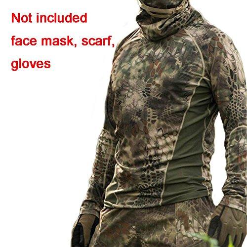 Hiker Jagd Shooting BDU Cap Combat Herren Langarm Shirt braun grün Kryptek für taktischen Airsoft Paintball Army Militär Medium  - Brown Green Kryptek (Shirt Bdu Braun)