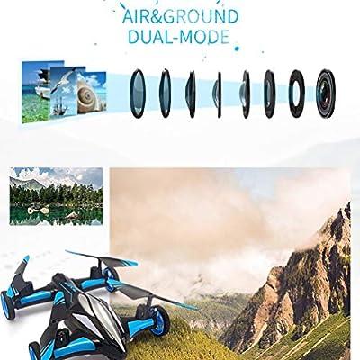 Jjrc H23 2.4G 4Ch 6-Axis Gyro Air-Ground Car Flying Rc Drone Rtf Quadcopter -Blue