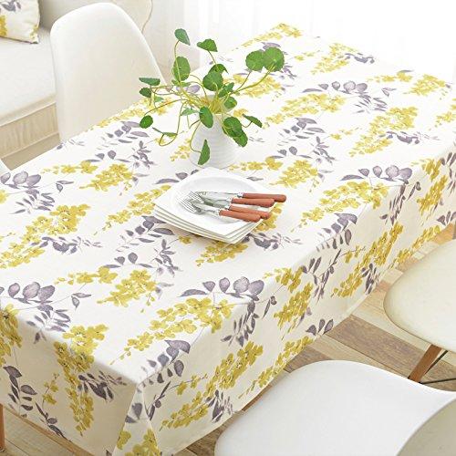 schdecke Esszimmer Garten Hotel Cafe Restaurant Baumwolle und Leinen wasserdicht Blume lila Tischdecke 130x240 cm Heimzubehör (Lila Polka Dot Tischdecke)