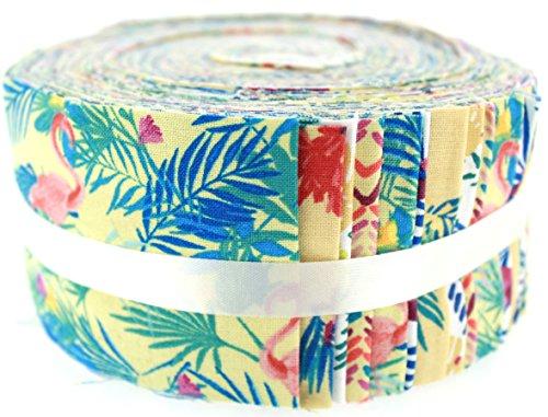 Fabric Freedom Stoff Freiheit Tropical Gelb Freiheit Rolle, 100% Baumwolle, Mehrfarbig, 13x 13x 7cm