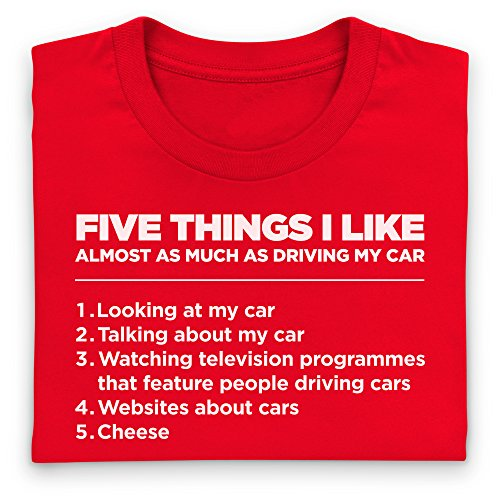 Five Things I Like - Cars T Shirt, Herren Rot