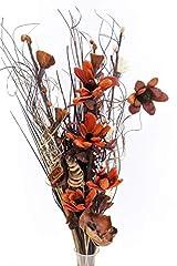 Idea Regalo -  Bouquet di fiori artificiali ed essiccati, alto 85 cm, pronto per un vaso Chocolate & Cream
