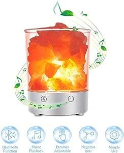 MRXUE Lampe de sel avec Bluetooth Haut Parleur LED Nuit