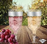 Disposable Plastic Wine/Champagne Glasses -Cristal Collection Silver- 100 Pieces