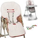 BRUCHINO Italy Housse pour chaise haute Chicco Polly Easy Made in Italy 100% coton Foppapedretti