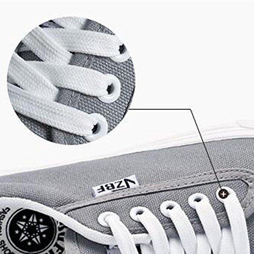 Mr. LQ - Beiläufige Segeltuch-Schuhe der Männer gray