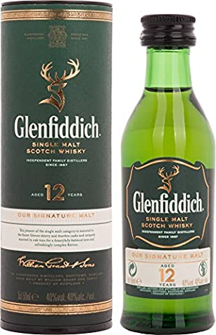 Glenfiddich 12 Years Old + GB 40% Vol. 0,05 l