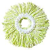COLORFUL Ersatz-Moppkopf Rotierender einfacher magischer Microfiber spinnender Boden-Mopp-Kopf (Grün)