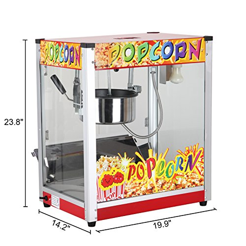 Wotefusi Popcorn Machine Popcorn Popper Maker for Commercial Use 220V 1360W Capacity: 8 Ounces