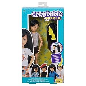 Creatable World pack de personajes, cabello moreno juguete para niños y niñas +6 años (Mattel GKV41)