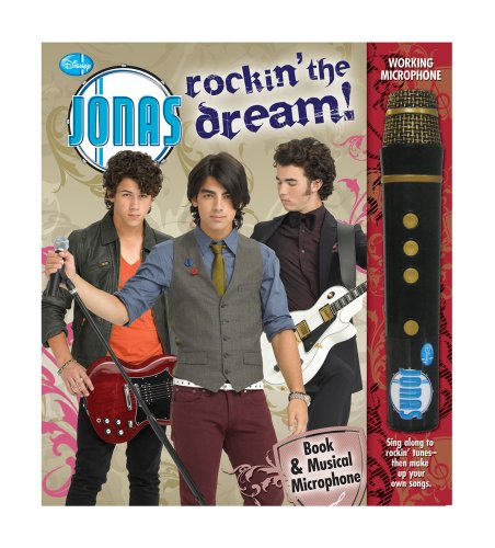 The Jonas Brothers Rock On! Fanbook and Musical Microphone.